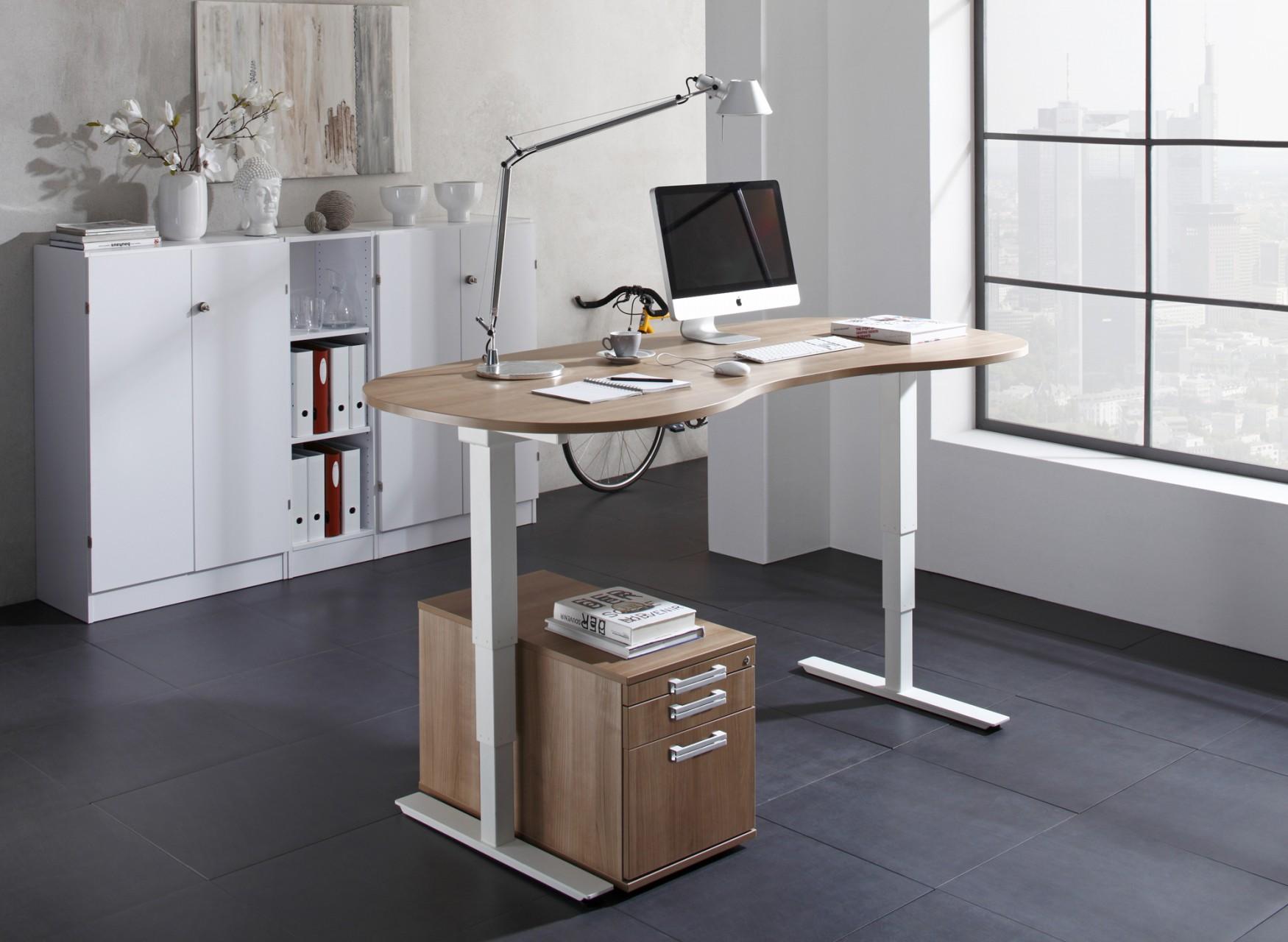 Bureau assis debout lectrique courbe adapt achat for Bureau assis