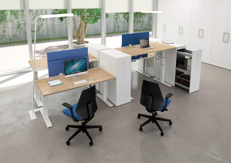 bureau assis debout lectrique modul achat bureaux r glables en hauteur 995 00. Black Bedroom Furniture Sets. Home Design Ideas