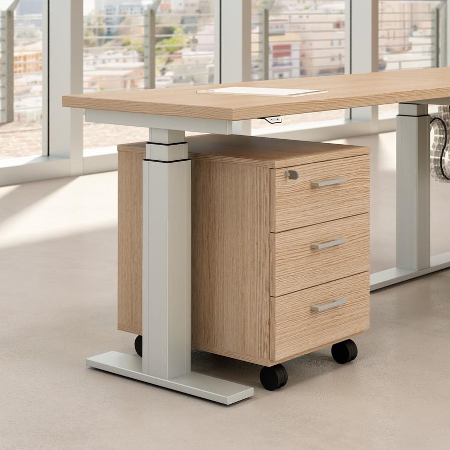 Bureau assis debout lectrique modul achat bureaux for Bureau assis