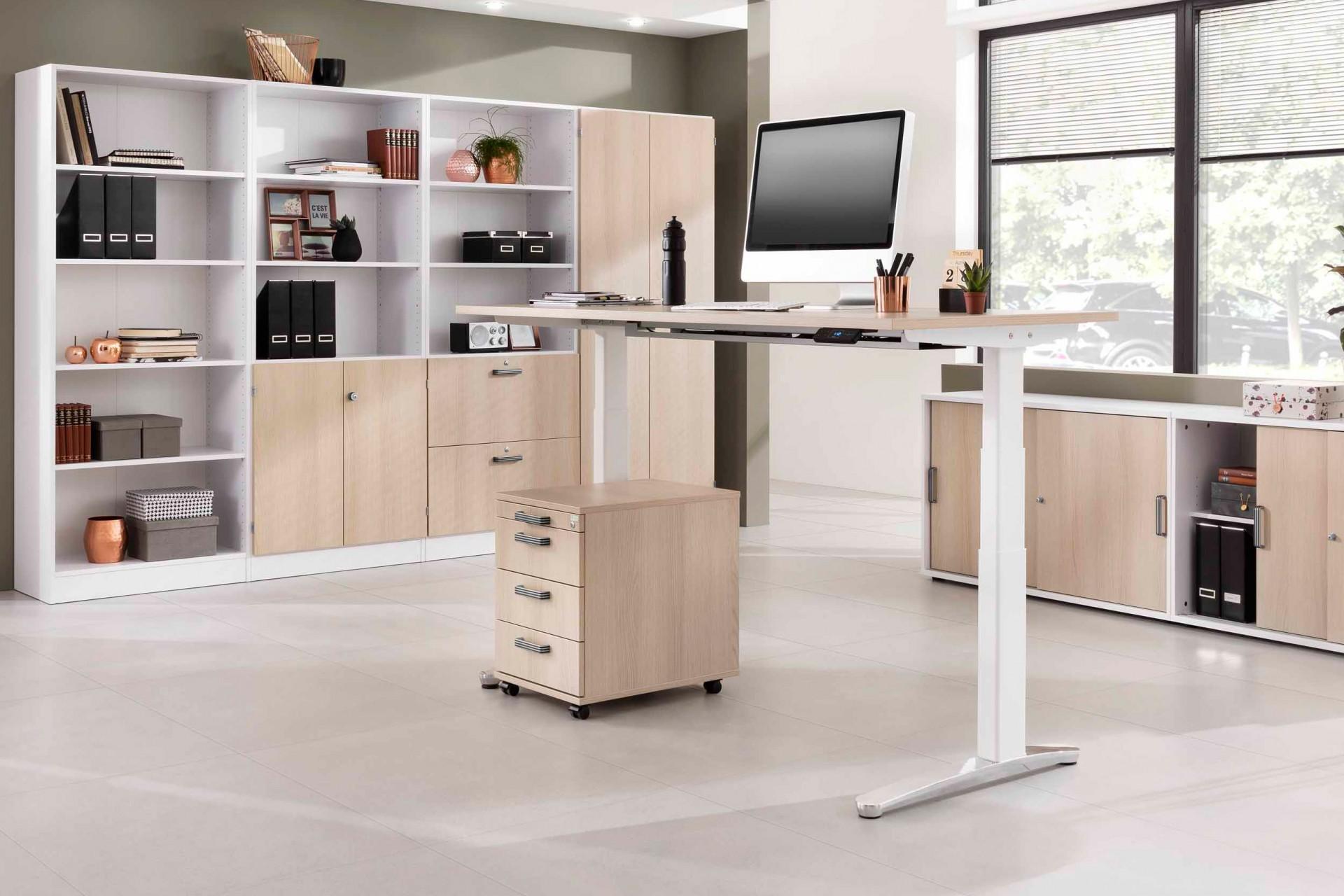 bureau assis debout lectrique roll 39 up. Black Bedroom Furniture Sets. Home Design Ideas