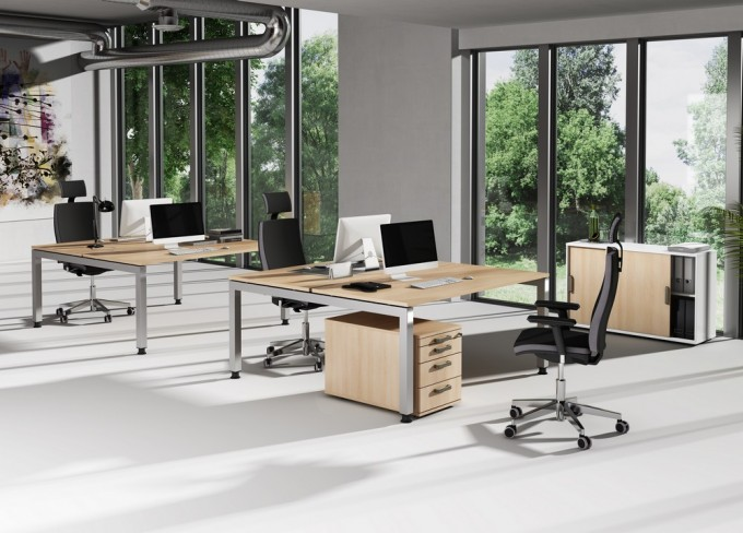 bureau bench r glable en hauteur ergoduo. Black Bedroom Furniture Sets. Home Design Ideas