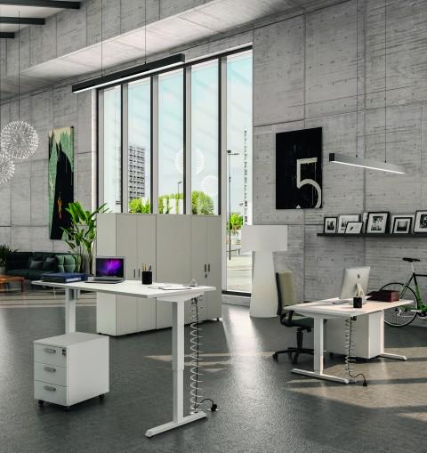 bureau lectrique assis debout eco up. Black Bedroom Furniture Sets. Home Design Ideas