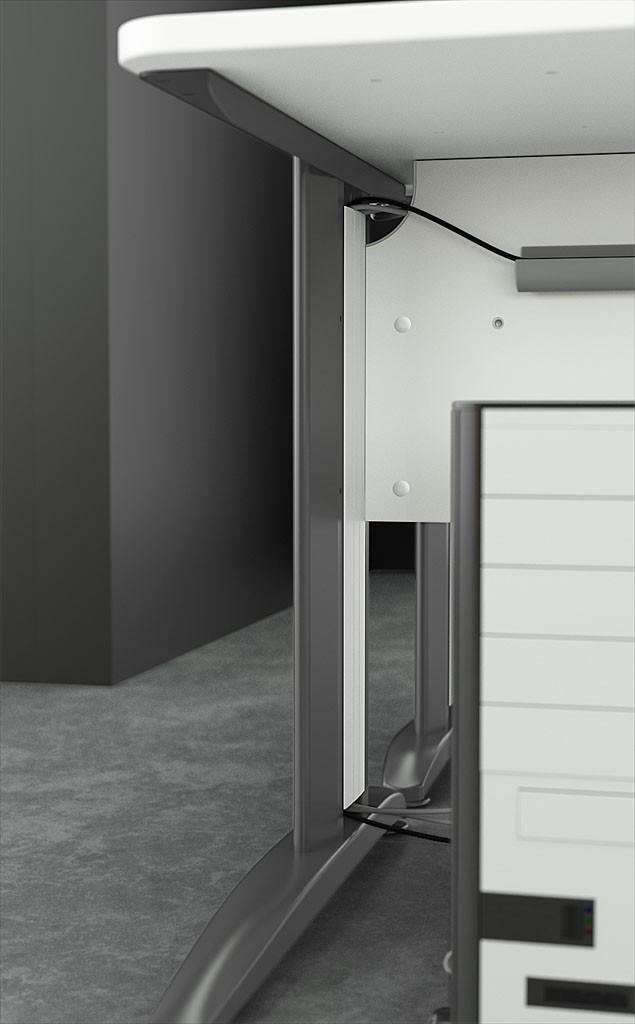 bureau r glable en hauteur atlas achat bureaux r glables en hauteur 265 00. Black Bedroom Furniture Sets. Home Design Ideas