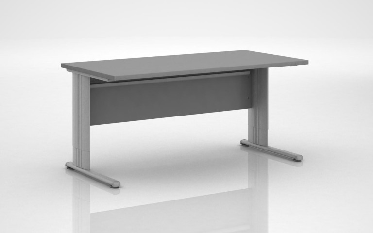 Table rglable en hauteur table rglable en epoxy blanc - Table reglable en hauteur avec rallonge ...