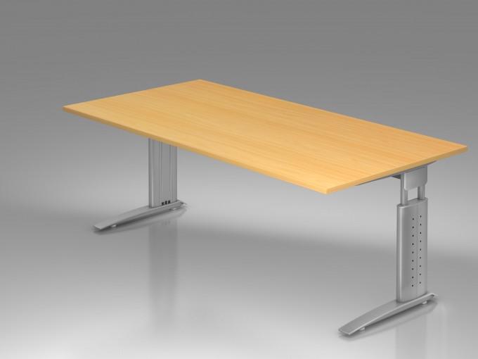 Bureau r glable en hauteur ergonomique plus 200 x 100 cm - Bureau reglable en hauteur ikea ...