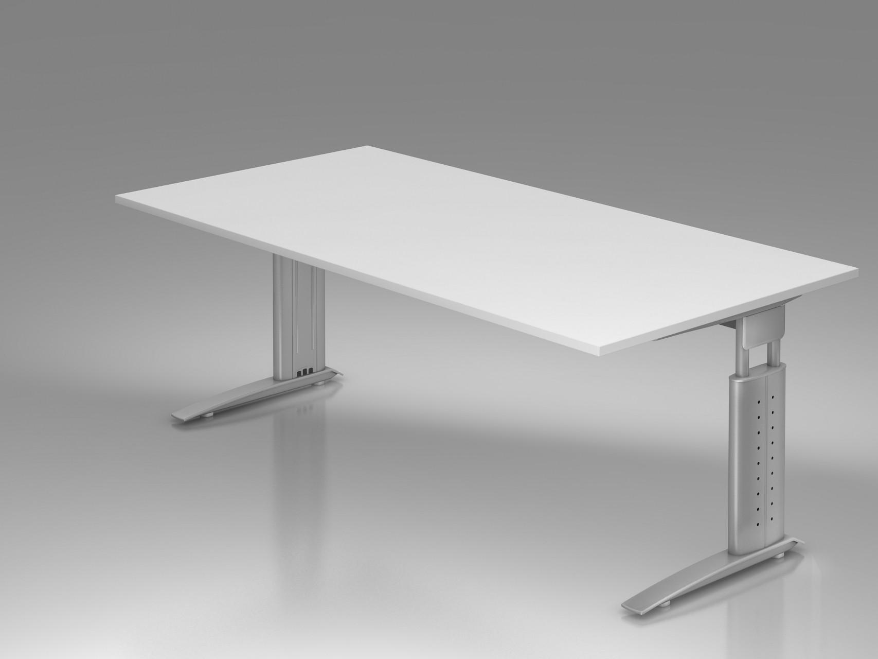 bureau r glable en hauteur ergonomique plus 200 x 100 cm. Black Bedroom Furniture Sets. Home Design Ideas