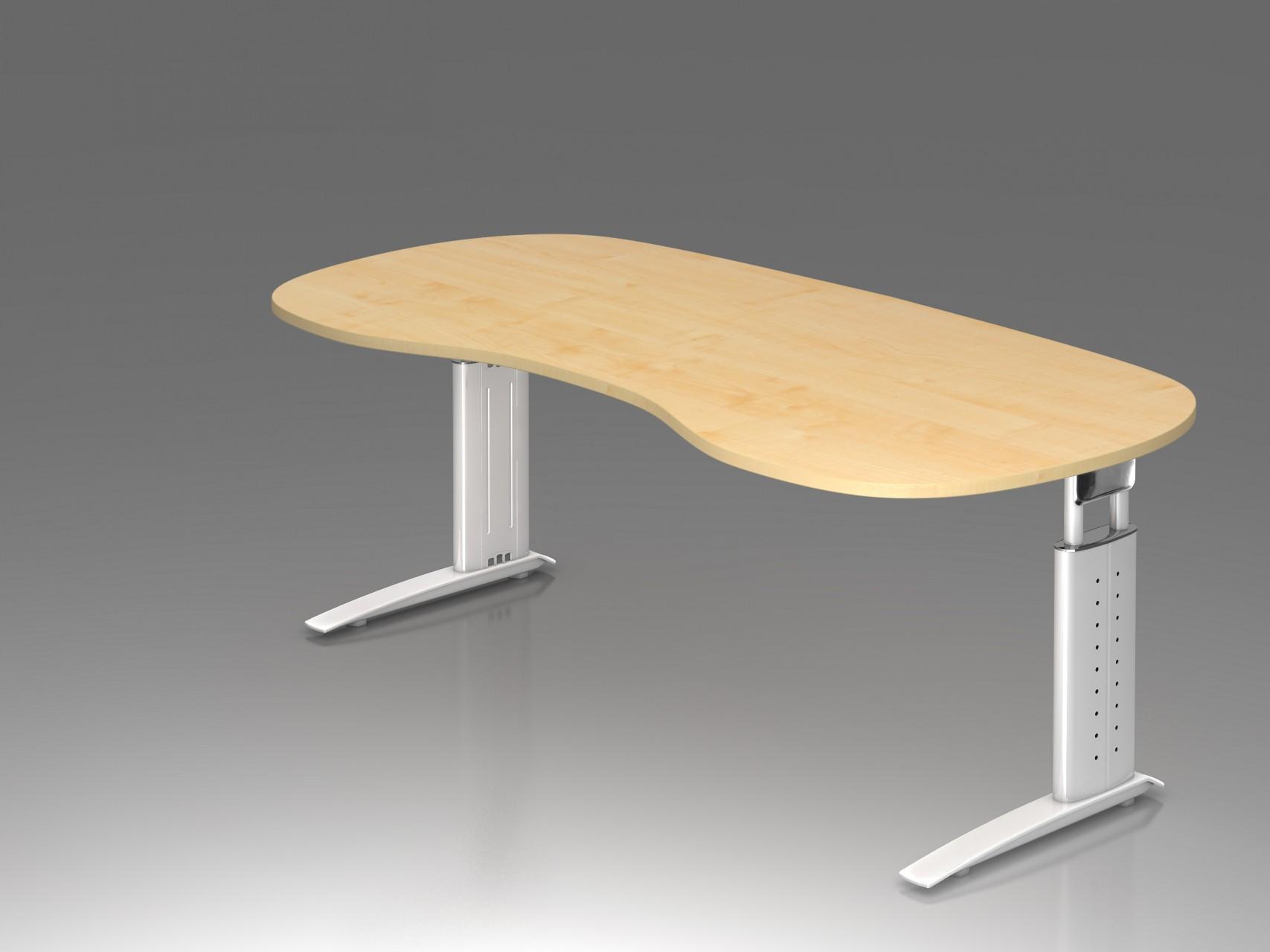 Bureau r glable en hauteur ergonomique plus courbe achat - Treteaux reglables en hauteur ...