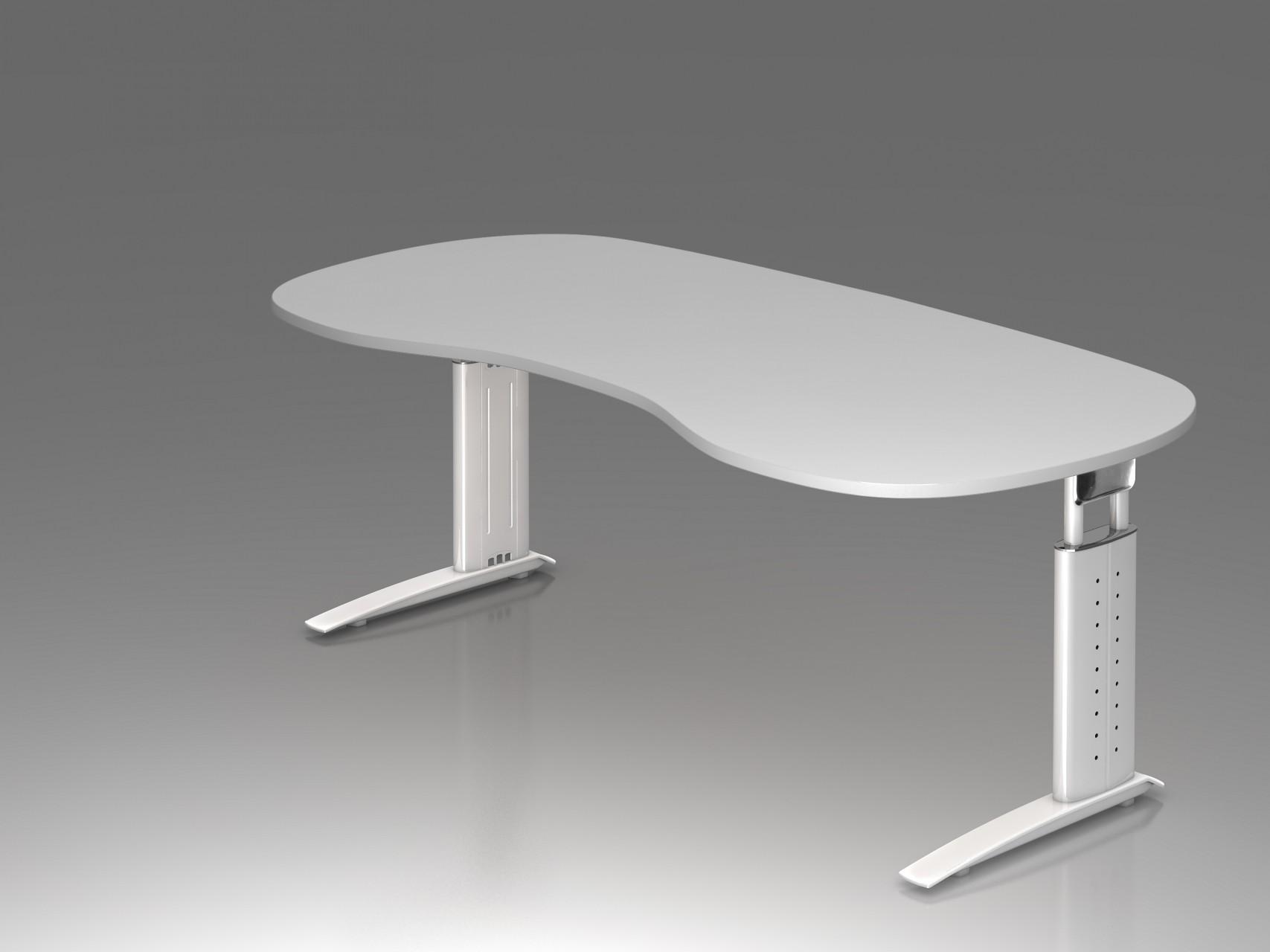 Bureau r glable en hauteur ergonomique plus courbe achat for Bureau reglable en hauteur ikea