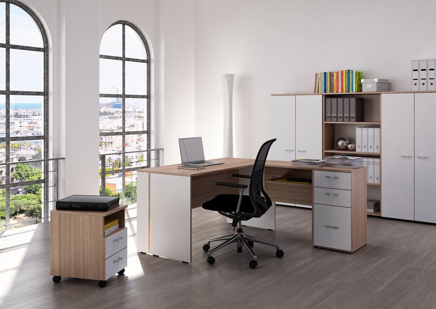 bureau z non avec caisson achat bureau professionnel pas cher 257 00. Black Bedroom Furniture Sets. Home Design Ideas