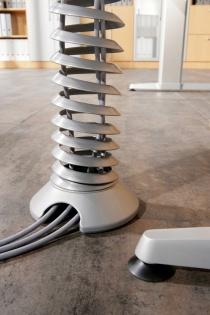 Goulottes passe câbles - Vertèbre verticale pour bureaux Adapt Assis-debout