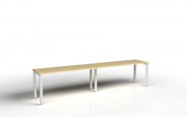 Bureau bench 2 personnes tempo profondeur 60 cm for Bureau 60 cm de longueur