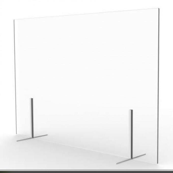 Cloison de comptoir amovible en verre