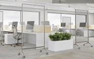 Accessoire mobilier de bureau - Cloison de séparation et de protection sur roulettes Rueda
