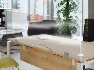 Cloison de protection - Ecran transparent à fixer pour bureau individuel Spécial COVID19