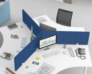 Panneau écran pour bureaux - Panneau écran acoustique tissu TIM+