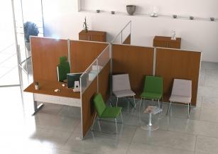 Cloisons et cloison amovible bureau - Cloison avec cadre porteur