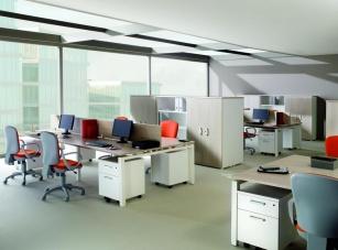 Panneaux écran pour bureaux - Cloisonnette bench frontale