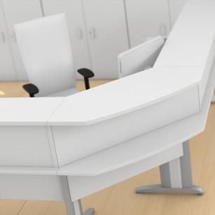 Mobilier Accueil entreprise - Angle Banque d'accueil Atlas