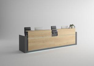 Mobilier Accueil entreprise - Banque d'accueil Contact double