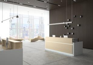 Mobilier Accueil entreprise - Banque d'accueil Contact