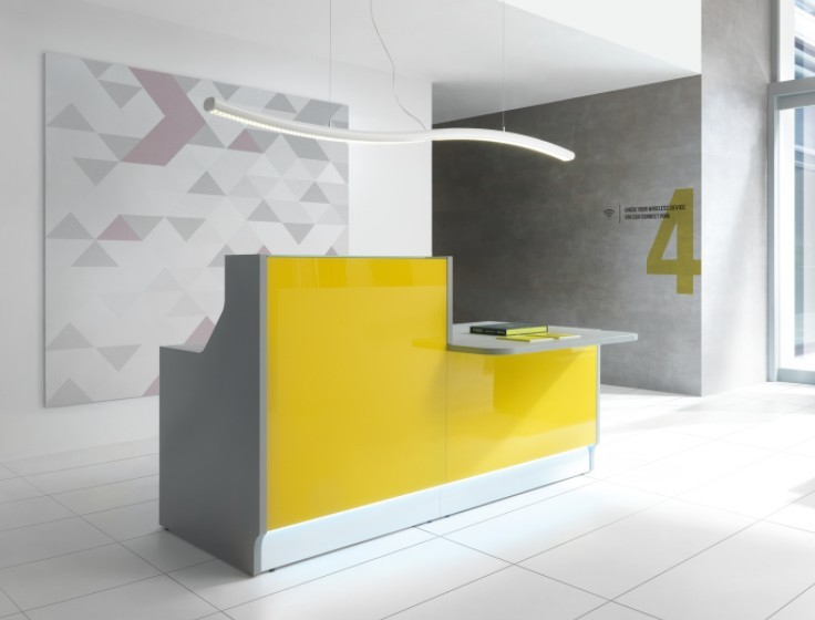 banque d 39 accueil linea avec pmr. Black Bedroom Furniture Sets. Home Design Ideas