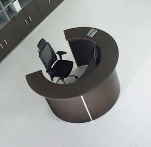 Mobilier Accueil entreprise - Banque d'accueil Round
