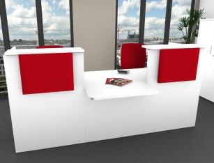 Mobilier Accueil entreprise - Banque d'accueil Sélect Module bas Centre
