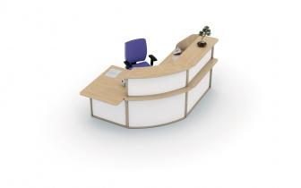 Mobilier Accueil entreprise - Banque d'accueil SUPREME côté bas