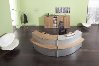 Mobilier Accueil entreprise - Banque d'accueil TEKA demi-ronde