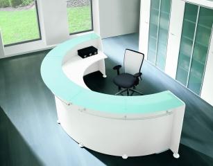 Mobilier Accueil entreprise - Banque d'accueil Top Verre