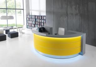 Mobilier Accueil entreprise - Banque d'accueil VALDE demi-cercle