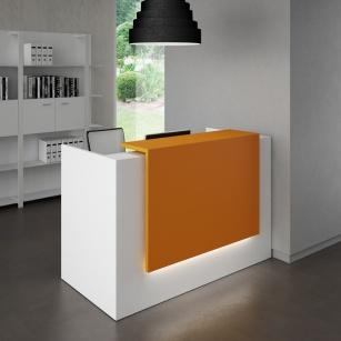 Mobilier Accueil entreprise - Banque d'accueil Zeta 1 personne