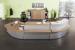 Mobilier Accueil entreprise - Banque Teka 3 modules