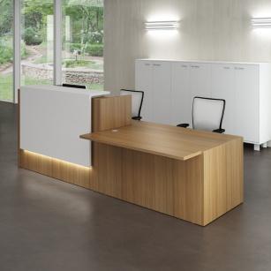 Mobilier Accueil entreprise - Banque Zeta comptoir bas