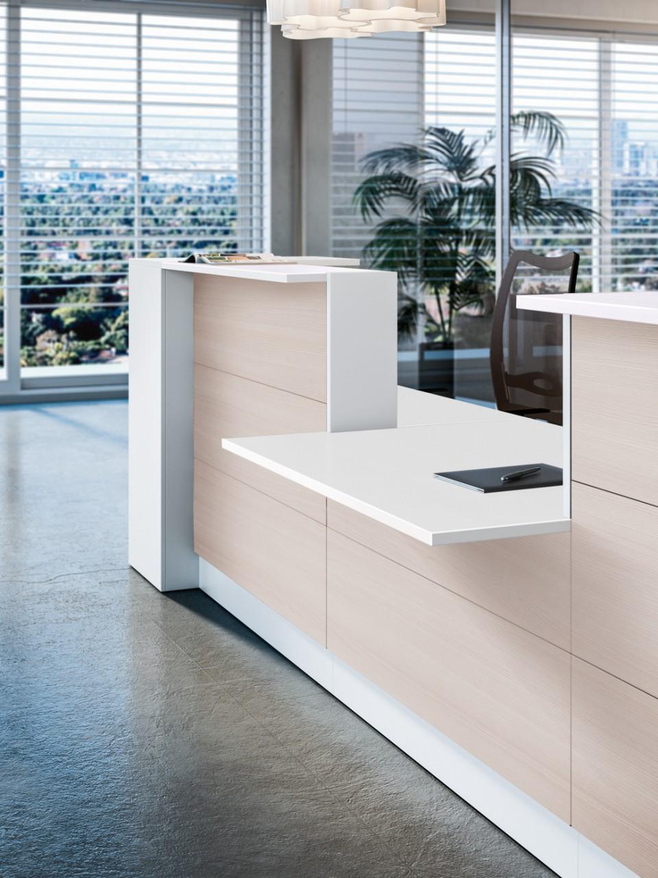 grande banque d 39 accueil square achat mobilier accueil entreprise 1 623 00. Black Bedroom Furniture Sets. Home Design Ideas