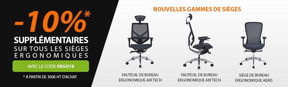 -10% sur fauteuil ergonomique