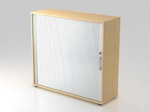 Armoire bois - Armoire à rideau 1 porte H110 cm