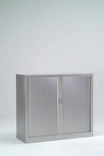 Armoire Bureau Métallique - Armoire à rideaux unie H100 cm