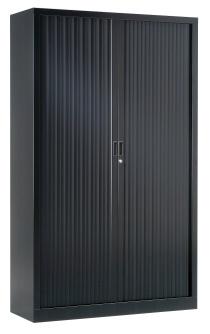 Armoire Bureau Métallique - Armoire à rideaux unie H198 cm