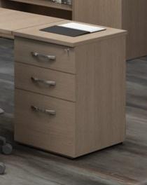 Caisson hauteur bureau - Caisson hauteur bureau pour bureau compact CURVY