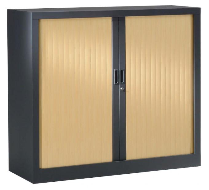 Armoire à rideaux bicolore H100 cm