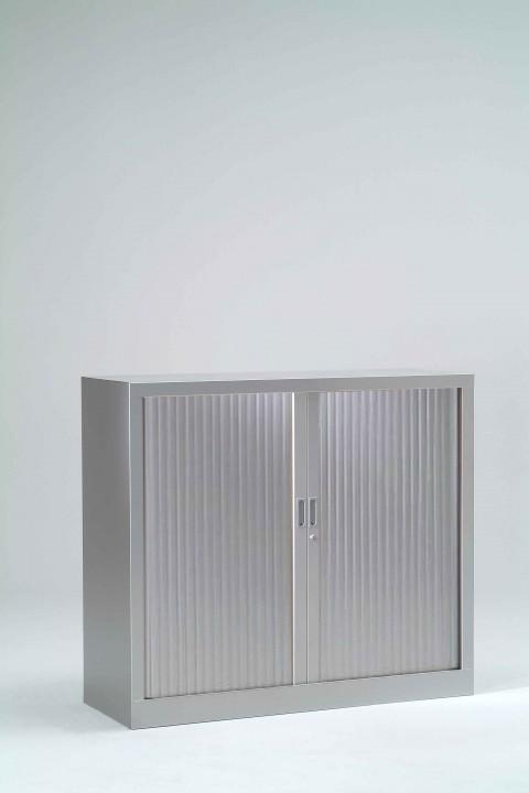 Armoire à rideaux unie H100 cm