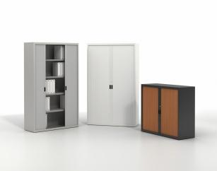 Armoire Bureau Métallique - Armoire métallique à rideaux monobloc largeur 120 cm