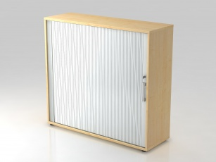 Armoires bois - Armoire à rideau 1 porte H110 cm