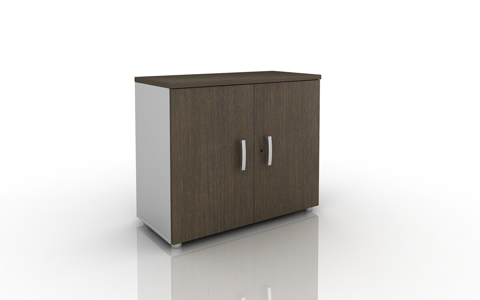 Armoire basse tempo achat armoires bois 195 00 - Armoire bureau bois ...