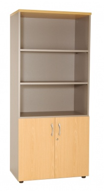 Armoires bois - Bibliothèque ouverte