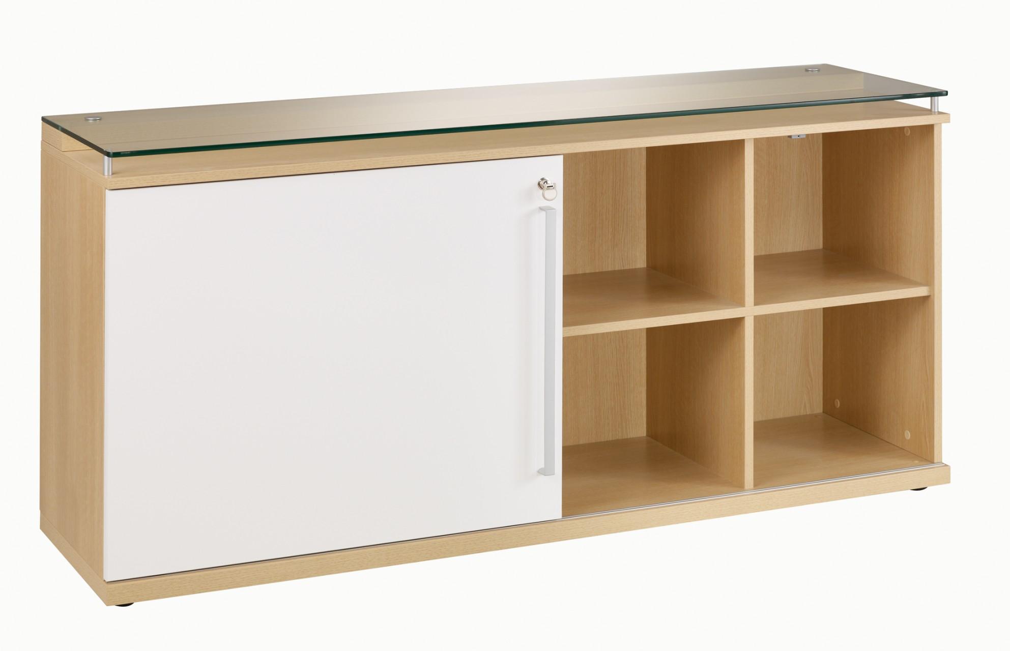 Cr dence porte coulissante sliver achat armoires bois for Meuble bureau hauteur 70 cm