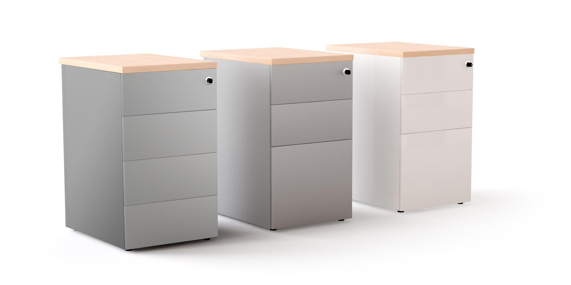 Caisson hauteur bureau m tal achat caisson hauteur for Bureau 70 cm de large