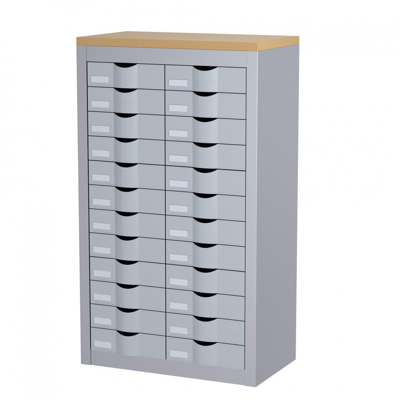 Meuble 24 tiroirs en hauteur achat meubles tiroirs for Meuble bureau 4 tiroirs
