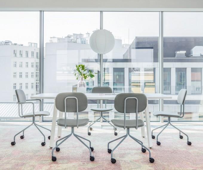 Chaise de réunion New School tissu